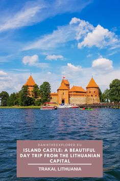 In the small town of #Trakai, located south-west of the Lithuanian capital of Vilnius and is a short coach/train journey away holds a hidden gem in this part of the world. The huge Lake Galve in this area has twenty one small islands but one island stands out more than the others and it's the island which lies Trakai Castle. With its surrounding scenery, beautiful architecture and enchanting history, this place is a great day trip whilst on a visit to #Vilnius, #Lithuania Europe Travel Guide, Travel Guides, Travel Destinations, Holiday Destinations, European Vacation, European Travel, Lithuania Travel, Poland Travel, Italy Travel