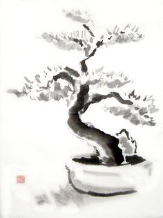 Sumi e Bonsai by DeepRed1981.deviantart.com on @deviantART