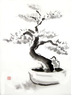 Sumi e Bonsai by DeepRed1981.deviantart.com on @deviantART