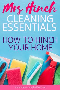 How does Mrs Hinch keep her home so pristine? You need her full list of Hinching cleaning products! Check out what Mrs Hinch uses in her own home and find out where to buy it! Diy Home Cleaning, Speed Cleaning, Weekly Cleaning, Household Cleaning Tips, Cleaning Checklist, House Cleaning Tips, Spring Cleaning, Cleaning Hacks, Cleaning Products