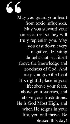 Guard your heart.  This is just what I needed to read!