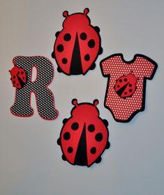ladybug baby shower decorartions | Creations: Ladybug Hanging Decorations