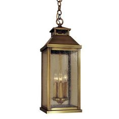 Arroyo Craftsman Canterbury 3-Light Foyer Pendant Finish: Rustic Brown, Shade Color: Gold White Iridescent