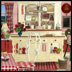 home sweet home - Page 2 Red Kitchen, Kitchen Art, Country Kitchen, Vintage Kitchen, Kitchen Decor, Kitchen Design, Country Art, Country Decor, Decoupage