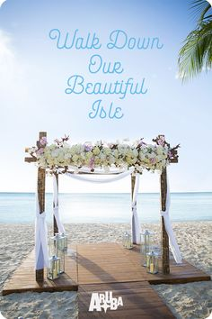 The perfect destination wedding on One happy Island! Beach Wedding Reception, Beach Ceremony, Wedding Party Dresses, Wedding Themes, Wedding Events, Wedding Ceremony, Our Wedding, Destination Wedding, Wedding Planning