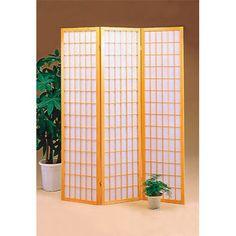 $77.00 - Wildon Home 70.25'' x 51.75'' Omak Folding 3 Panel Room Divider