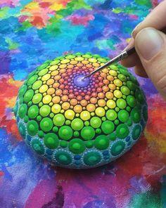 Mandala Stone by Elspeth McLean
