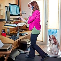 In case you have no time to workout and burn some calories a walking desk treadmill can be useful fitness equipment for you. Get this standing desk treadmill. Treadmill Desk, Treadmill Reviews, Office Exercise, Office Makeover, Space Crafts, The New Yorker, Workout For Beginners, You Working, No Equipment Workout
