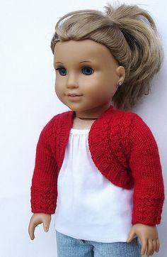 Ravelry: Charlotte Bolero For 18 Inch American Girl Dolls pattern by Steph Wylie