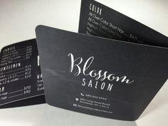 Pizarra menú salón de bolsillo tarjeta de clientes DIGITAL para imprimir o…