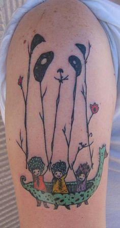 by reztattoo on flickr #tattoo #panda #illustration