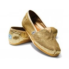 $29.55!! Toms Glitter For Women Pure Golden Shinning Sale