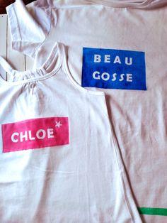 Blog F de Fifi: manualidades, imprimibles y decoración: Camisetas decoradas con spray de La Pajarita para el #desafiocraftlover