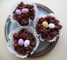 Nidi di cioccolato con ovetti #pasqua2016 #dolci #cioccolata #ricette #cibo #foodtrend