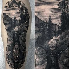Discover the beauty of the great outdoors with these top 101 best nature tattoos. Explore tree and mountain designs with deep meanings and majestic appeal. Tattoos For Guys, Tattoos For Women, Cool Tattoos, Tatoos, Badass Tattoos, Outdoor Tattoo, Hiking Tattoo, Theme Tattoo, Passport Stamps