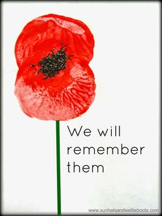 Sun Hats & Wellie Boots: Remembrance Poppy Prints