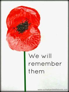 Sun Hats & Wellie Boots: Remembrance Poppy Prints