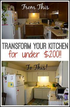 How To Paint Old Kitchen Cabinets | Projects To Try | Pinterest |  Küchenmöbel, Lackierte Küchenschränke Und Küchenschränke