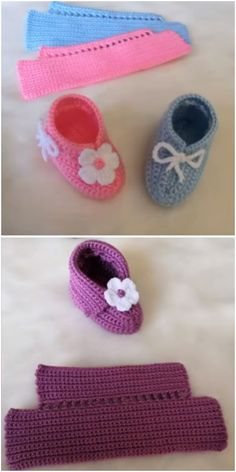 Crochet Amazing Baby Slippers - We Love Crochet Crochet Baby Clothes, Crochet Baby Shoes, Crochet Slippers, Love Crochet, Crochet For Kids, Booties Crochet, Baby Booties Knitting Pattern, Baby Shoes Pattern, Baby Hats Knitting
