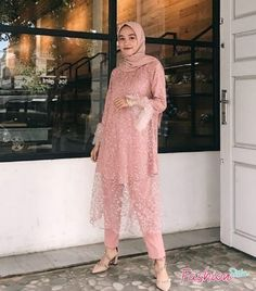 Dress Brokat Muslim, Dress Brokat Modern, Kebaya Modern Dress, Dress Brukat, Hijab Dress Party, Model Dress Kebaya, Model Kebaya Muslim, Kebaya Simple, Dress Muslim Modern