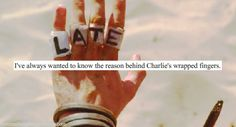 LOST Confessions - Charlie' s wrapped fingers