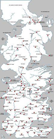 Large Westeros Castles Named