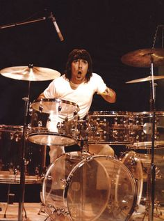 Keith Moon of The Who. #drummers http://www.pinterest.com/TheHitman14/musician-drummers-%2B/