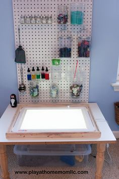 """oooo light box idea :) Creating play spaces - from Play at Home Moms LLC ("""",)"""