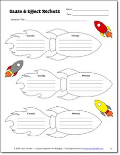 Cause and Effect Rockets Graphic Organizer - free!