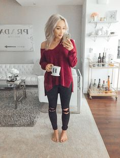 View our very easy, relaxed & just lovely Casual Fall Outfit smart ideas. Get inspired with one of these weekend-readycasual looks by pinning your most favorite looks. casual fall outfits with jeans Looks Style, Looks Cool, Fall Winter Outfits, Autumn Winter Fashion, Black Jeans Outfit Winter, Fall Outfits 2018, Christmas Party Outfits Casual, Fall Outfit Ideas, Cute Fall Outfits