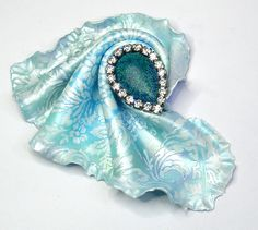 "BREEZE - Handmade polymer clay brooch - ""Cloth' technique by 1000and1 on Etsy"