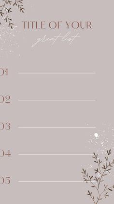 List Instagram Story Design – Canva Template #instagram #story #template #canva #canvapro #minimalist #minimal #simple #list #bingo #elegant #chic #design #social #media #feminine #quote #new #post #ideas #diy #goals #checklist