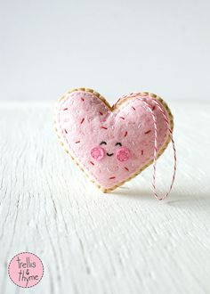 This listing is for an instant-download PDF-PATTERN. It is not a finished toy. Whats sweeter than a frosted heart-shaped sugar cookie - with