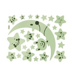 """Amico 23 Pcs PU Leather Moon Stars Shape Luminous Stickers Wall Decor Light Green Black by Amico. $4.39. Min Size : 2 x 2cm/ 0.8"""" x 0.8""""(L*W);Net Weight : 44g. Stickers Quantity : 23;Max Size : 21 x 9cm/ 8.3"""" x 3.5""""(L*W). Package Content : 23 Pcs x Hearts Shape Luminous Sticker. Product Name : Luminous Sticker;Material : PU Leather. Color : Light Green, Black;Style : Hearts. It's suitable for wall, ceiling, glass, boxes, Christmas tree decorating. It's made of PU leather, which..."""