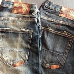 Every mans wardrobe needs at least one pair of jeans that look like that theyve been around forever. Courtesy of PRPS. Sharp Dressed Man, Well Dressed Men, Ripped Jeans, Denim Jeans, Japanese Denim, Denim Branding, Raw Denim, Men's Wardrobe, Best Jeans