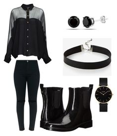 """""""EXO WHITE NOISE INSPIRED OUTFIT"""" by kokobop94 on Polyvore featuring Gucci, Tory Burch, CLUSE and Express"""