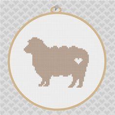 Sheep Silhouette Cross Stitch PDF Pattern by kattuna on Etsy, $3.50