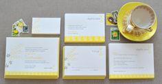 #Mimosa Letterpress #Wedding #Invitations - Delphine
