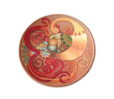 Decorative plate Rooster  #Craftshout