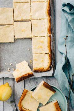 Rahkapiirakka | Maku Square Cakes, Creme Fraiche, Recipes From Heaven, Cornbread, Camembert Cheese, Goodies, Food And Drink, Sweets