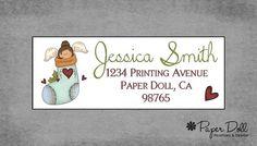 Christmas Return Address Labels Christmas by PaperDollPrinting