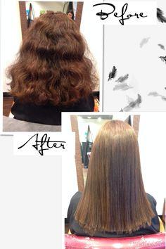 YUKO Hair Straightening Before And After! #YUKO #Japanesehairstraightening #hair #yukohairstraightening #hair #yukosalon