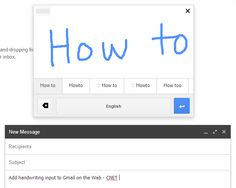 Add handwriting input to Gmail on the Web