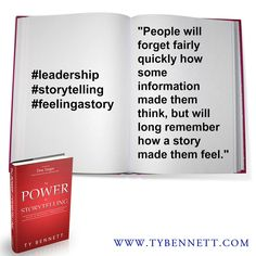 What's your favorite story?  How did it make you feel?  #storytelling #leadership #feelingastory