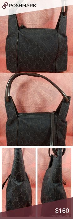 22d098919bd Authentic Gucci GG Monogram Small Shoulder Bag The outer canvas showed sign  of used with 4