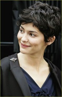 Audrey Tautou - short wavy hair cut-Embrace your beauty! Dianne Nola | Hair Stylist | Curly Hair Specialist http://www.nolastudio.com