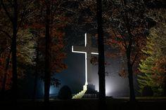 The Cross, Sewanee, TN, overlooking the valley below