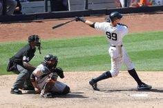 These three MLB teams could be the biggest playoff surprises of 2017  -  June 16, 2017:    Yankees:     Yankees right fielder Aaron Judge (99) hits a home run to left-center field during the sixth inning against the Orioles at Yankee Stadium.