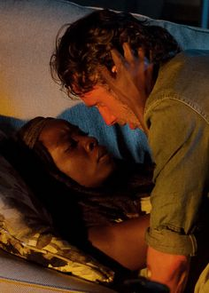 Rick Grimes and Michonne in The Walking Dead Season 6 Episode 10