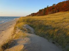 The amazing beaches at Muskegon State Park in Michigan, USA.